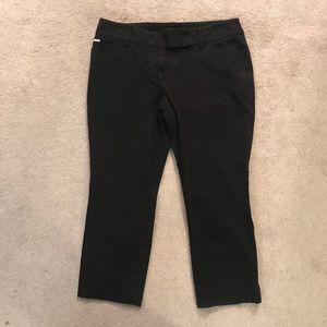White House Black Market Black Pants. Crop Leg 4.